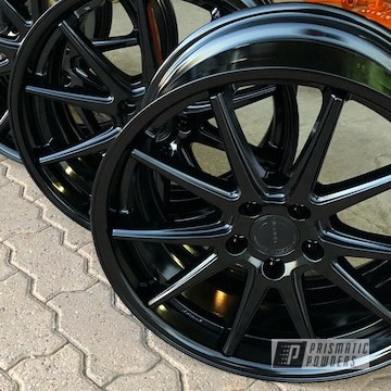 18 Inch Powder Coated Wheels In Black