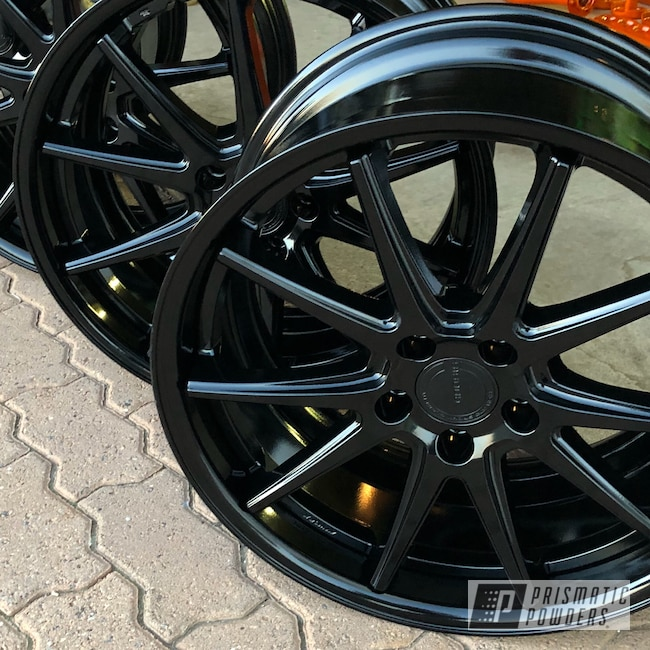 "Powder Coating: Wheels,Matte Black PSS-4455,Automotive,18"",18"" Wheels"