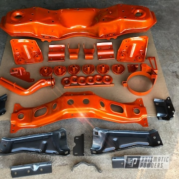 Powder Coated Chevy Truck Chassis