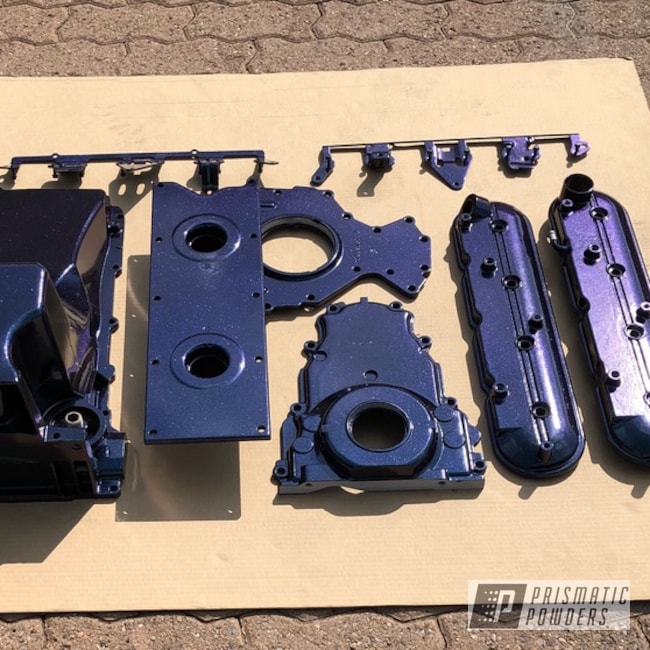 Custom Powder Coated Engine Parts