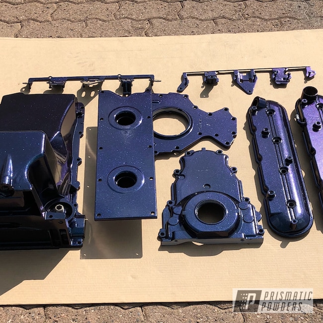 Powder Coating: Automotive,Engine Parts,Chameleon Sapphire Teal PPB-5732