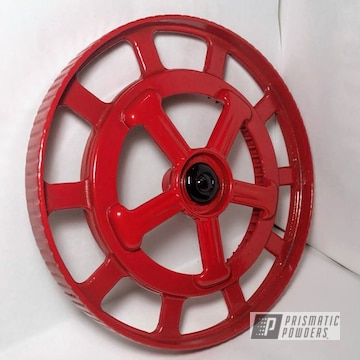 Powder Coated In Red And Black