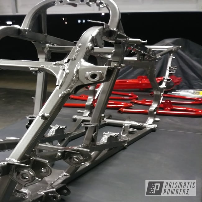 Powder Coating: Clear Vision PPS-2974,Motorcycle Frame,Mocha Steel PMB-8103,Mike'sCustomCoatings,Motorcycles,250r