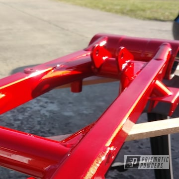 Powder Coated Red Part
