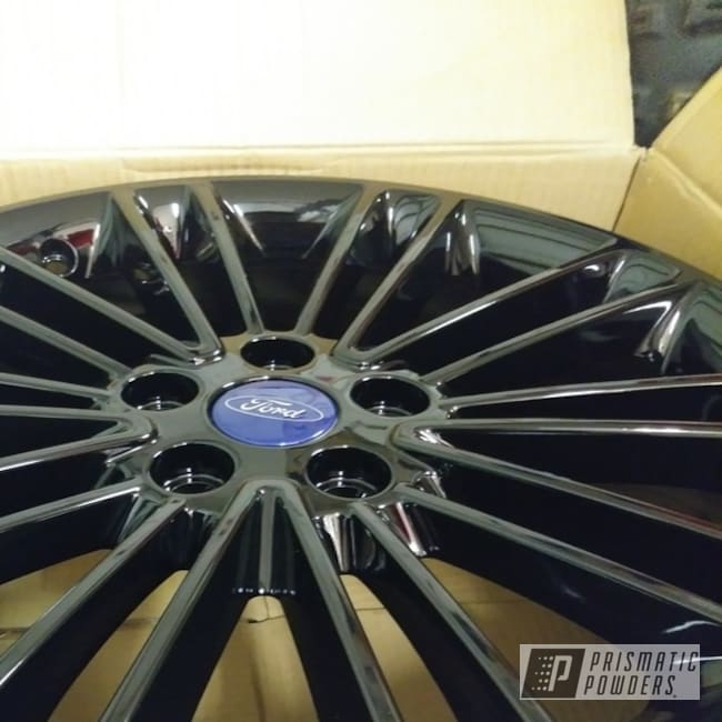 Powder Coating: Wheels,Automotive,Mike'sCustomCoatings,Ink Black PSS-0106