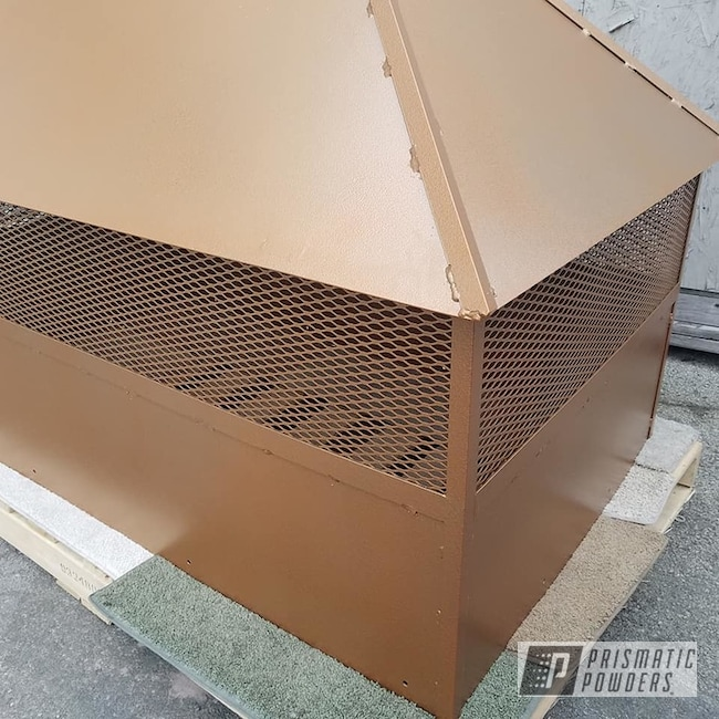Powder Coating: Coppersun River PRB-2826,Chimney Cap,Custom Roof Cap,Fireplace,Miscellaneous