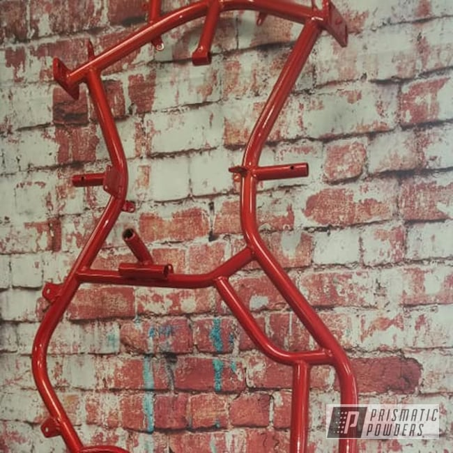 Powder Coating: Clear Vision PPS-2974,Illusion Red PMS-4515,Racing,Frame,Go Cart