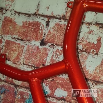 Powder Coated Red Go Kart Frame
