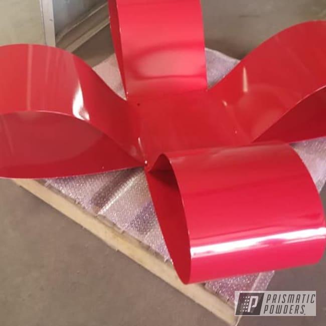 Powder Coating: Sculpture,Goldtastic PMB-6625,Art,Christmas,RAL 3002 Carmine Red,Miscellaneous