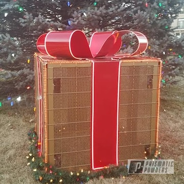 Powder Coated Christmas Sculpture