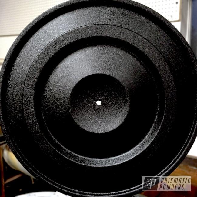 Powder Coating: Splatter Black PWS-4344,Automotive,Air Cleaner Lid,Car Parts,Automotive Powder Coating