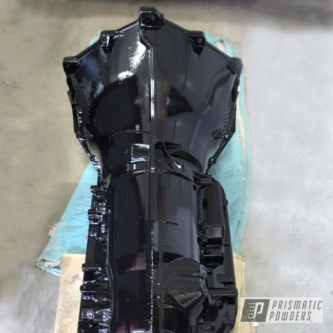 Powder Coating: Automotive,GLOSS BLACK USS-2603,Transmission Case,Car Parts,Powder Coated Automotive Transmission Parts