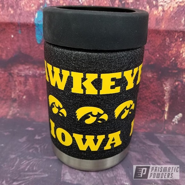 Powder Coating: Splatter Black PWS-4344,Drinkware,RAL 1003 RAL-1003,Custom Cup,Can Koozie