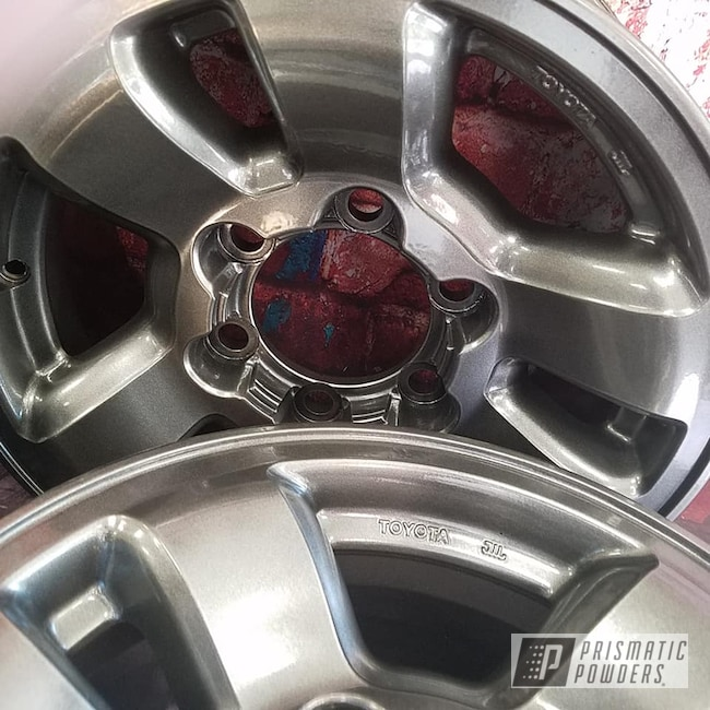 Powder Coating: Wheels,Automotive,Aluminum Rims,Kingsport Grey PMB-5027