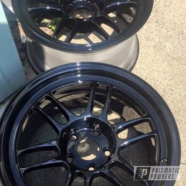 Powder Coating: Wheels,Automotive,Ink Black PSS-0106,Powder Coat Wheels