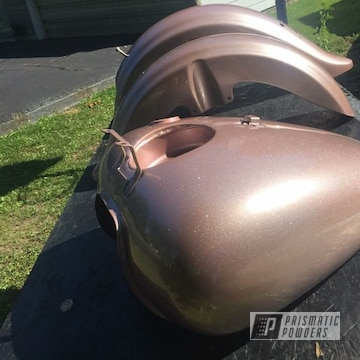 Powder Coated Motorcycle Tank And Fenders