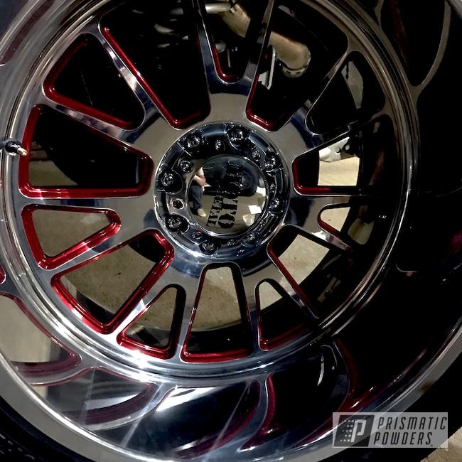 Powder Coating: Automotive,Clear Vision PPS-2974,truck_builder,Dodge Ram 2500,Illusion Cherry PMB-6905,Custom Build,Dodge Gold PMB-6688,Automotive Powder Coating