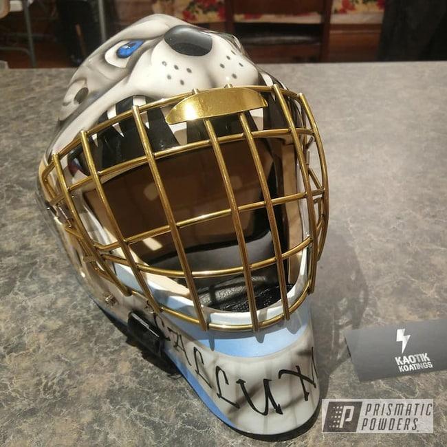 Powder Coating: Brassy Gold PPS-6530,Goalie Mask,Brassy Gold,Hockey,Sports