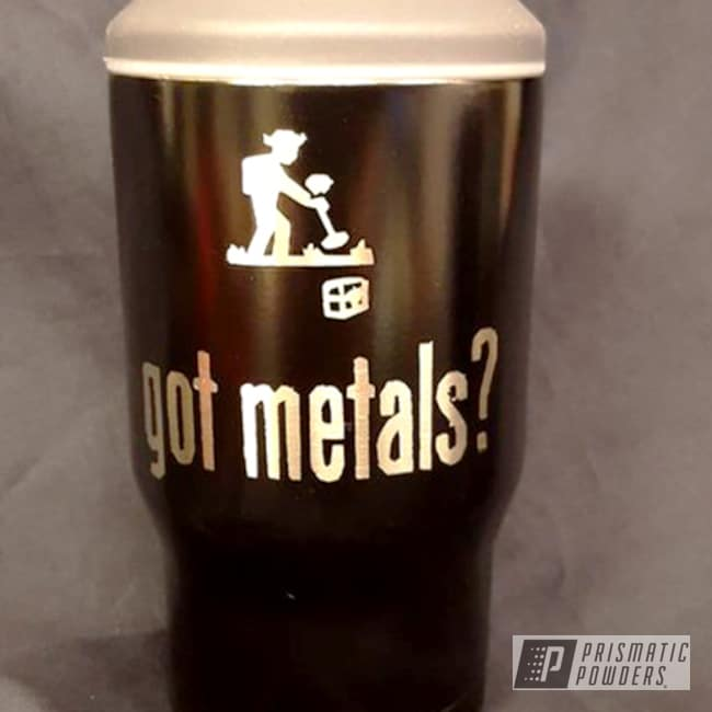 Powder Coating: Stone Black PSS-1168,Custom Can Koozie,Miscellaneous,Powder Coated Cup