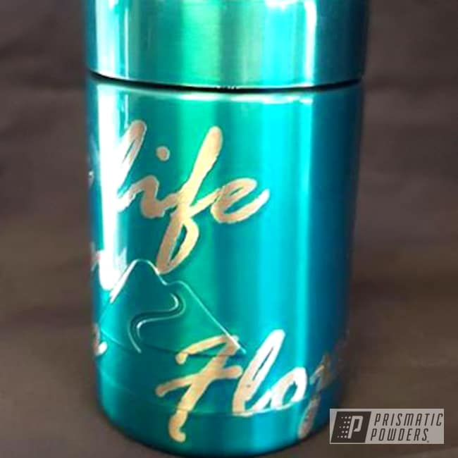 Powder Coating: AQUA CLEAR UPS-1680,Custom Can Koozie,Miscellaneous,Powder Coated Cup
