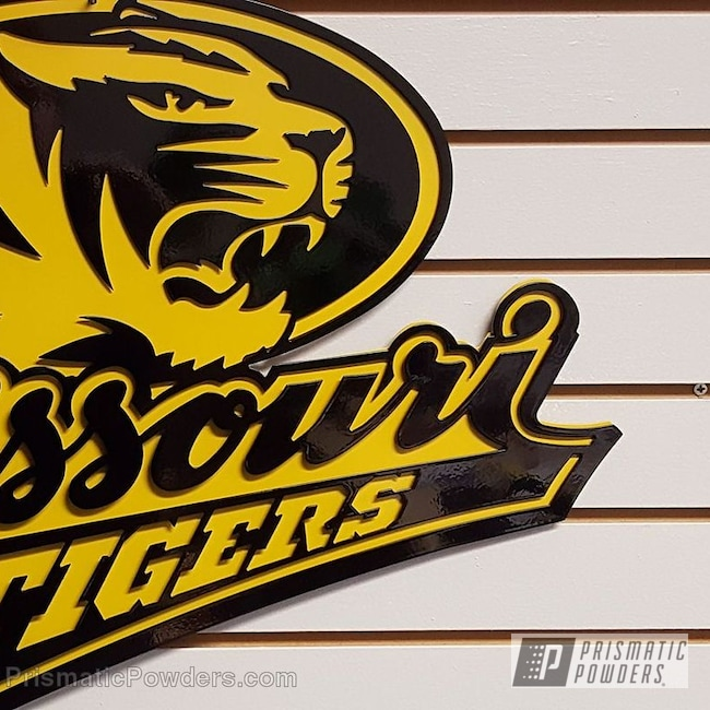 Powder Coating: Custom Powder Coated Sign,Ink Black PSS-0106,School Sign,RAL 1028 MelonYellow,Miscellaneous