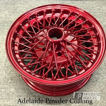 Red Powder Coated Wheels