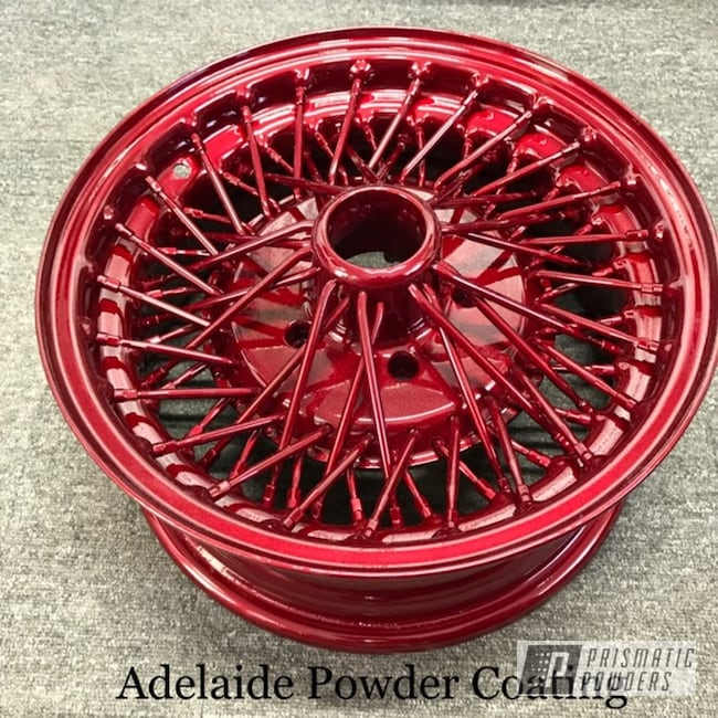 Powder Coating: Wheels,Automotive,Clear Vision PPS-2974,red wheels,Illusion Red PMS-4515