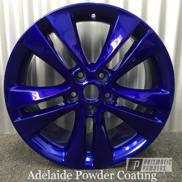Blue Powder Coated Wheels