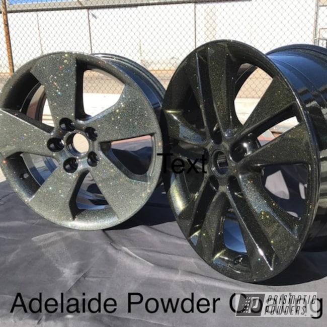 Powder Coating: Wheels,Jr Rockstar Sparkle PPB-6624,Automotive,Golden Sparkle PPB-4457