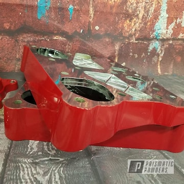 Powder Coated Red Harley Davidson Engine Parts