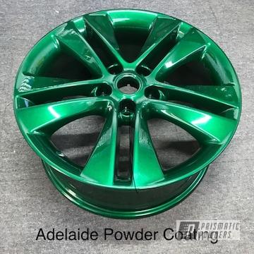 Powder Coated Green Wheels