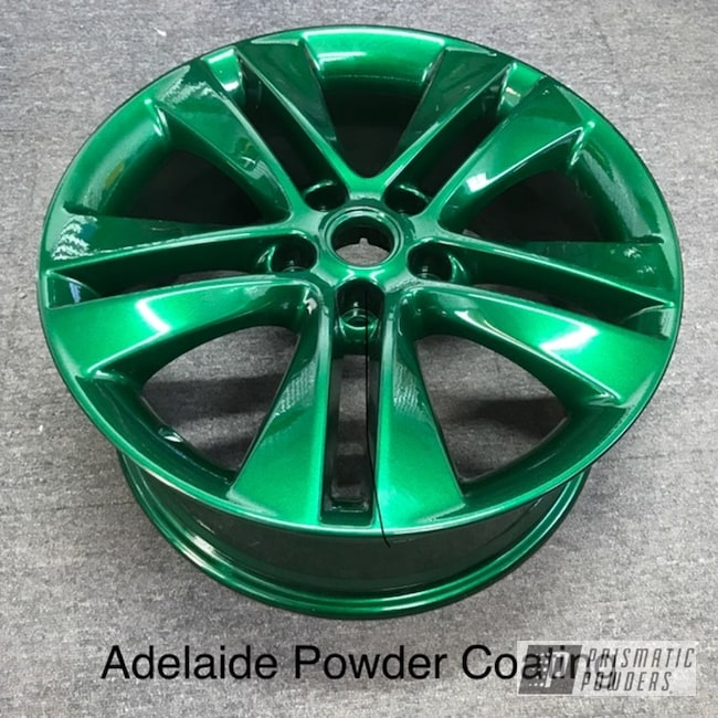Powder Coated Green Wheels