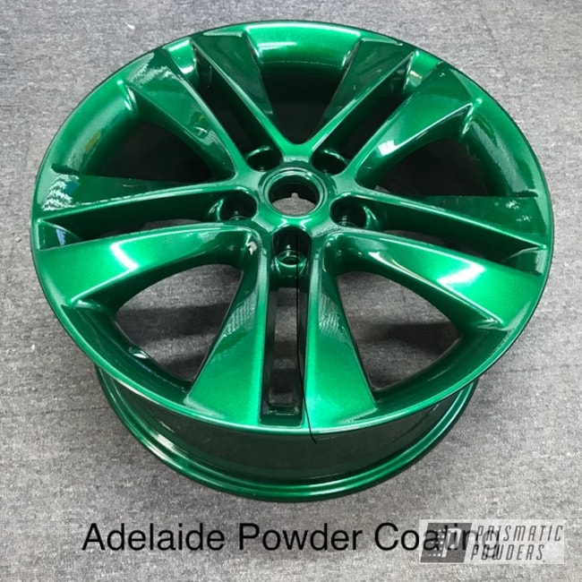 Powder Coating: Wheels,Automotive,Clear Vision PPS-2974,Ultra Illusion Green PMB-5346