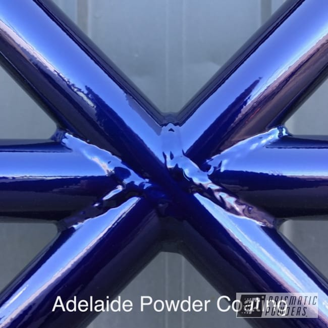 Powder Coating: SUPER CHROME USS-4482,Powder Coated Frame,Intense Blue PPB-4474