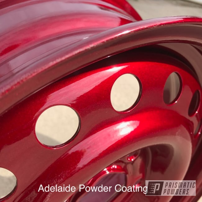 Powder Coating: Wheels,Automotive,Clear Vision PPS-2974,Illusion Cherry PMB-6905