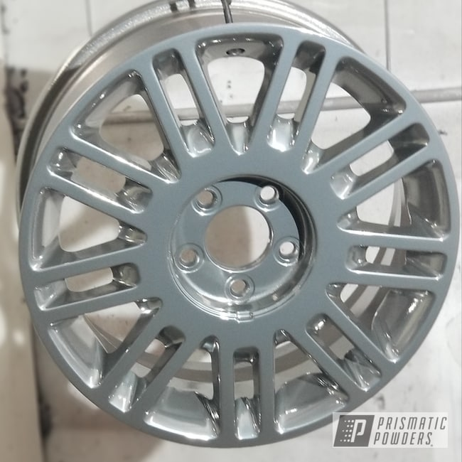 "Powder Coating: Wheels,Automotive,Clear Vision PPS-2974,SUPER CHROME USS-4482,17"" Wheels"