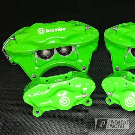 Powder Coating: Brakes,Brembo Calipers,Brembo,Brembo Brake Calipers,Kiwi Green PSS-5666,Brembo Caliper