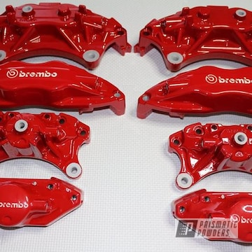 Red Powder Coated Brembo Brakes