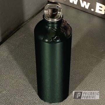 Powder Coated Green Water Bottle