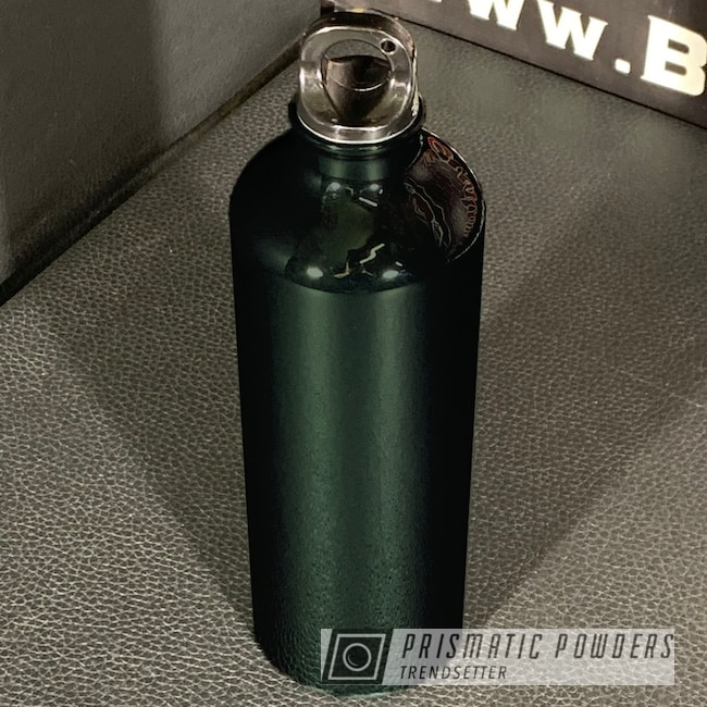 Powder Coating: Clear Vision PPS-2974,British Green PSB-6354,Custom Water Bottle,Water Bottle,British Racing Green