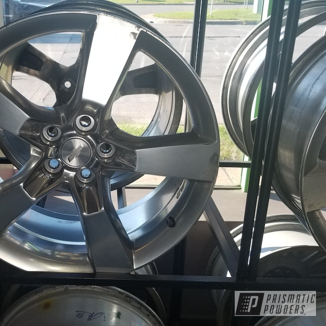 """Powder Coating: Wheels,Automotive,Clear Vision PPS-2974,Chevrolet,Ink Black PSS-0106,Caprice,Chevy,20"""" Wheels"""