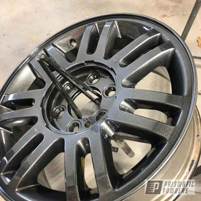 Powder Coating: Wheels,Automotive,Clear Vision PPS-2974,Aluminium Wheels,Aluminum Rims,Corrosion Wheels,Ford,Refinish,F150,Cadillac Grey PMB-6377