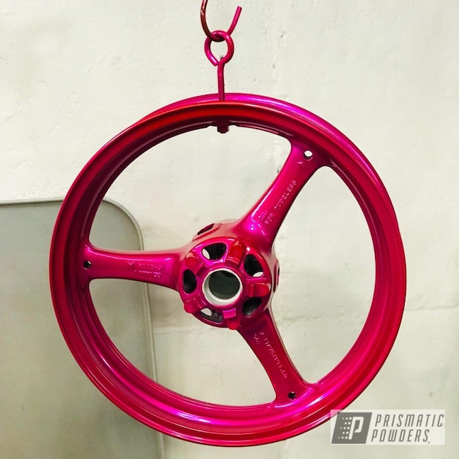 "Powder Coating: Wheels,Kawasaki,Kawasaki Motorcycle,Motorcycle Parts,ZX10R,17"" Wheels,#zx10r,Motorcycles,Corkey Pink PPS-5875"