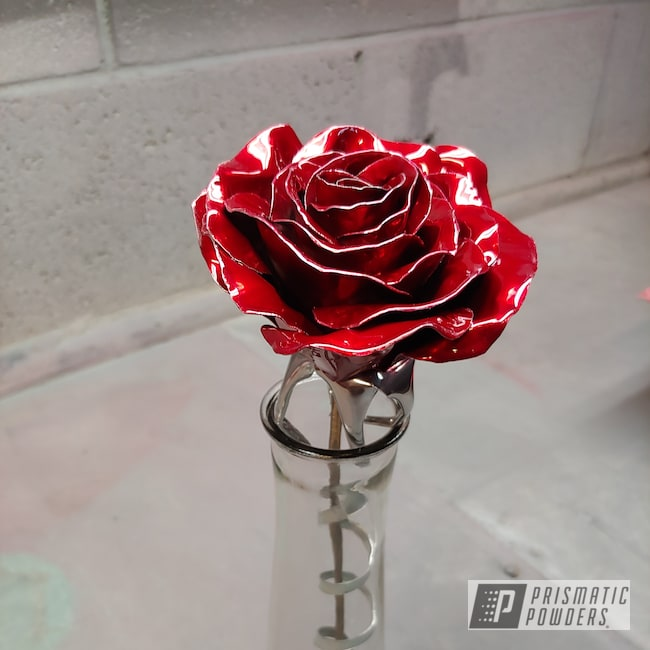 Powder Coating: Metal Art,SUPER CHROME USS-4482,LOLLYPOP RED UPS-1506,Art,Metal,Roses