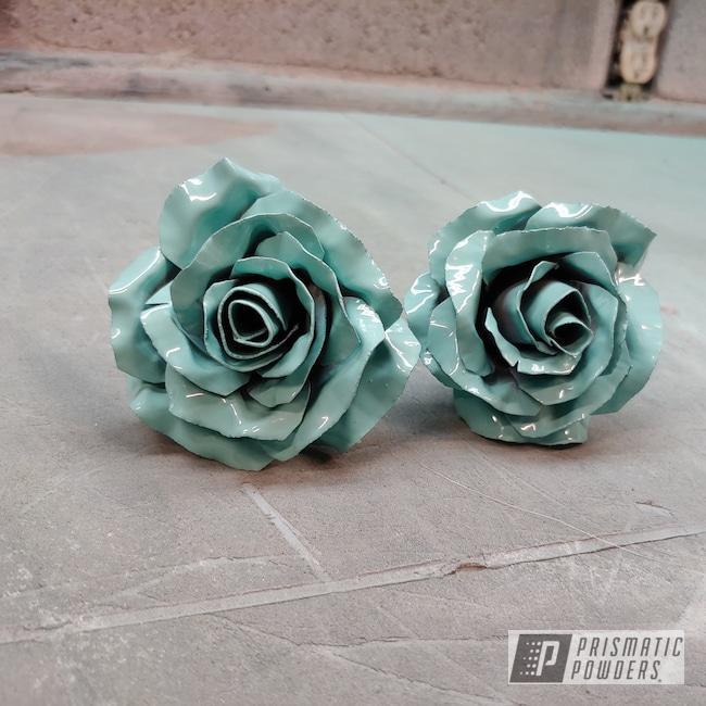 Powder Coating: Metal Art,Sea Foam Green PSS-4063,Metal Roses,Art,Roses,Miscellaneous