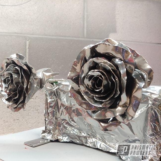 Powder Coating: Metal Art,SUPER CHROME USS-4482,Metal Roses,Art,Roses,Miscellaneous