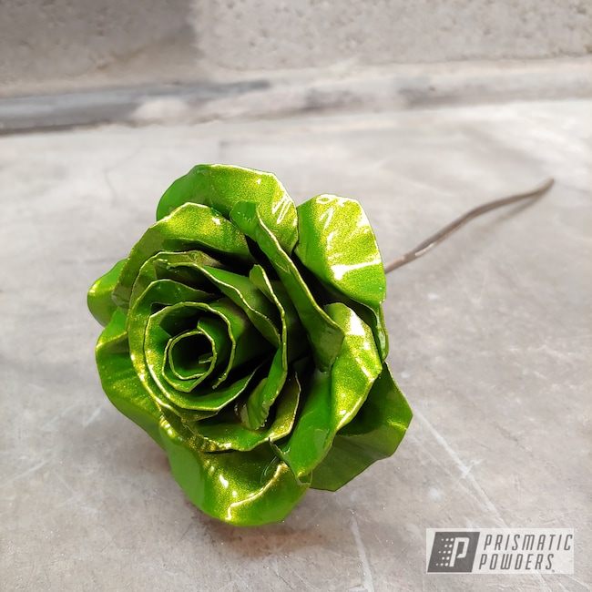 Powder Coating: Metal Art,Clear Vision PPS-2974,Illusion Sour Apple PMB-6913,Metal Roses,Art,Roses,Miscellaneous