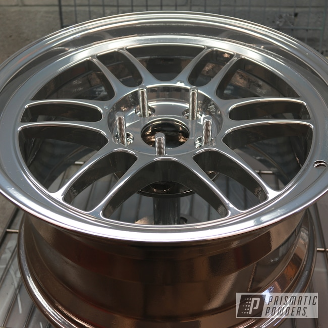"Powder Coating: Wheels,Automotive,SUPER CHROME USS-4482,Aluminum Wheel,16"""