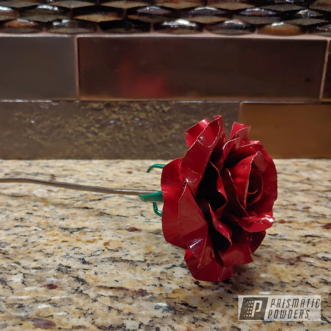 Powder Coating: Metal Art,Metal Roses,Art,Kelly Green PSS-4466,Very Red PSS-4971,Roses,Miscellaneous