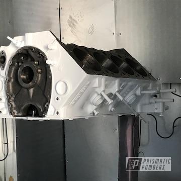 White Powder Coated Motor
